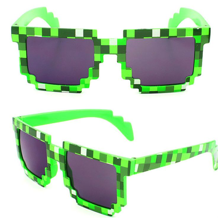 Minecraft Glasses Thug Life Pixel Women Men Sunglasses Black Mosaic Sun Glasses Deal with it boy girl #clothing,#shoes,#jewelry,#women,#men,#hats,#watches,#belts,#fashion,#style