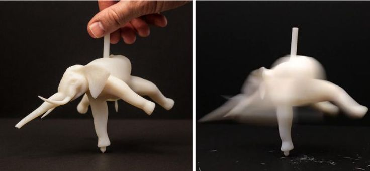 Disney Research Can Turn Any 3D Printed Object Into a Seemingly Impossible Spinning Top http://3dprint.com/11457/disney-3d-print-spin-top/