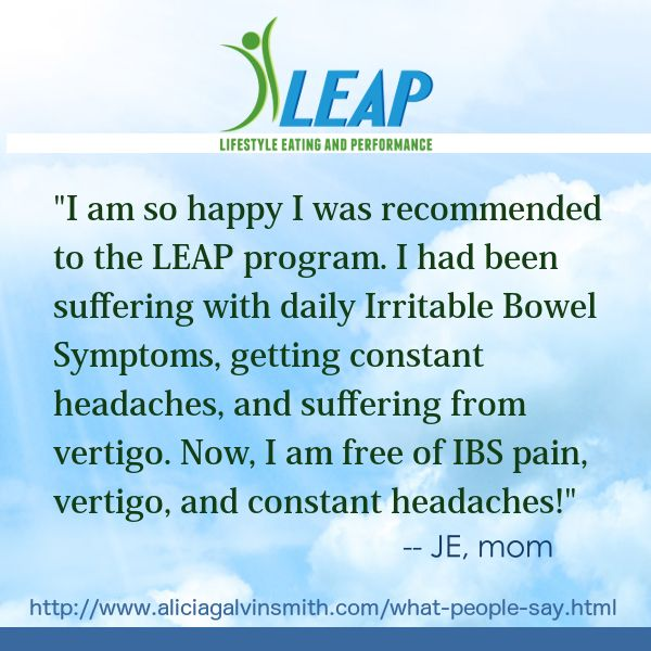 #LEAP testimonial from a mom patient of Alicia Galvin Smith, Certified LEAP Therapist (CLT), in Dallas, Texas. #ibs