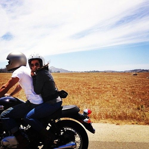 Two on a motorcycle