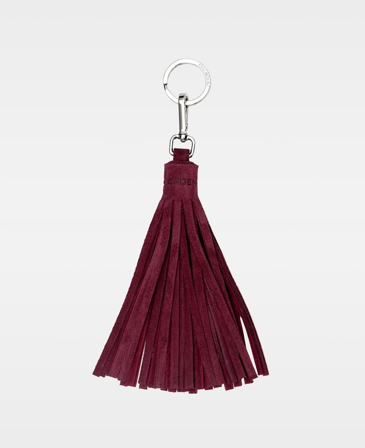 DECADENT Casey Tassel with key-ring, Suede wine