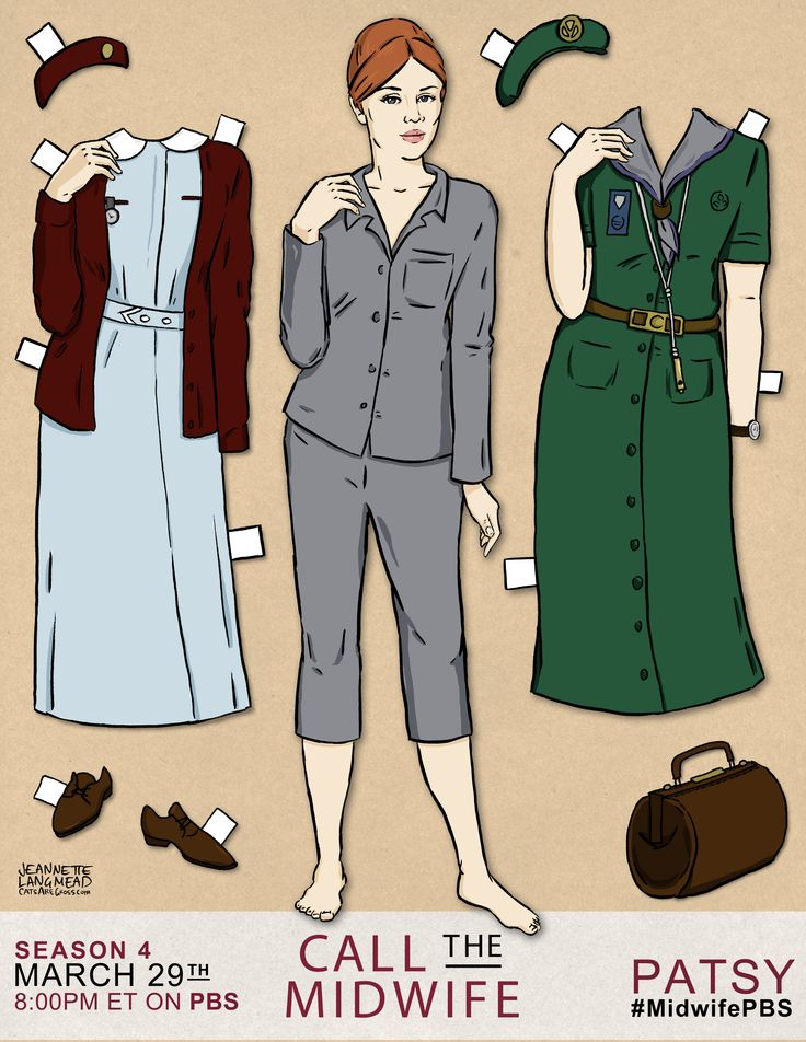 Introducing the Patsy doll! Which CALL THE MIDWIFE character would you like to see as a paper doll? #MidwifePBS