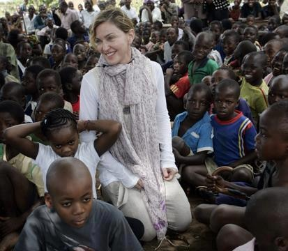 Madonna and kids in Malawi.