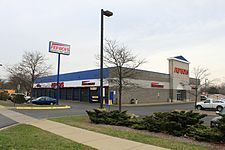 The Pep Boys: Manny, Moe & Jack, (branded and commonly abbreviated as Pep Boys) is a full-service and tire automotive aftermarket chain. Originally named Pep Auto Supplies, the first store was founded in Philadelphia, Pennsylvania in 1921 by Emanuel (Manny) Rosenfeld, Maurice L. (Moe) Strauss, W. Graham (Jack) Jackson, and Moe Radavitz. Currently headquartered in the Philadelphia neighborhood of East Falls, Pep Boys operates over 800 stores, 7,500 service bays in 35 states and Puerto Rico.