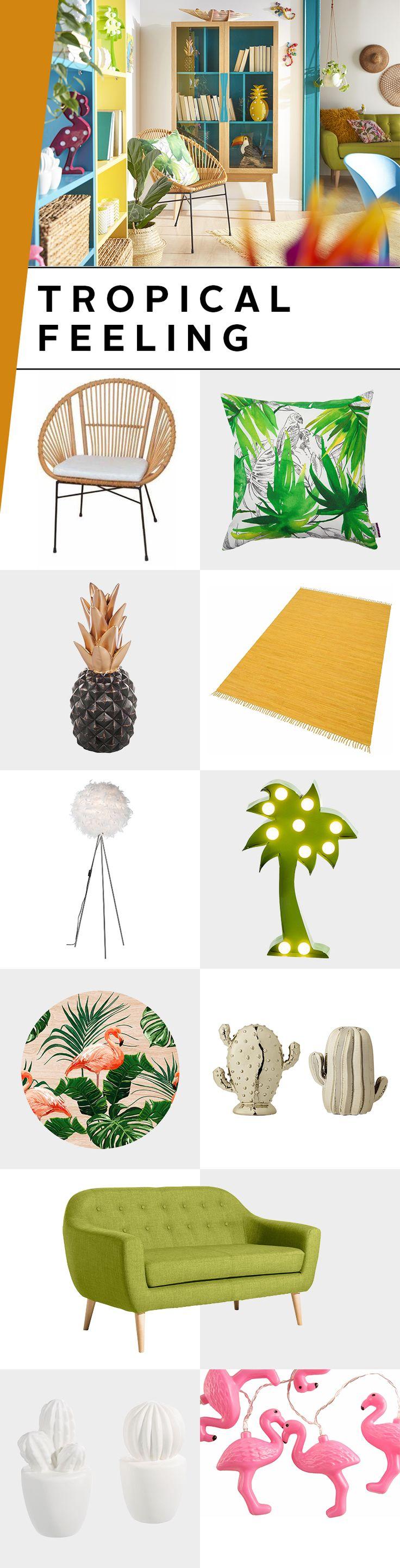 Mach doch mal Urlaub in deinen eigenen vier Wänden Ob Ananas Deko Palmen