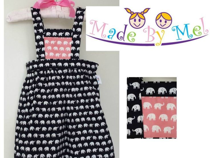 Handmade by Made By Mel Size 2 'Boo!' Pinny - Pattern from Boo! Designs