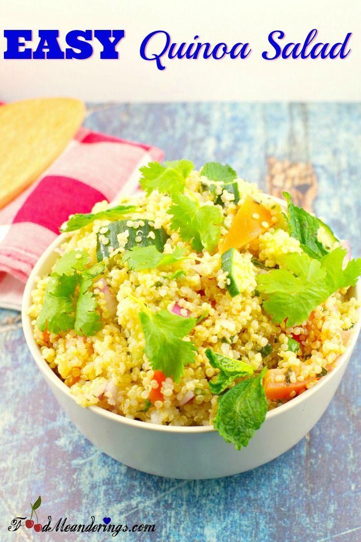 Easy Quinoa Salad Vegan And Gluten Free
