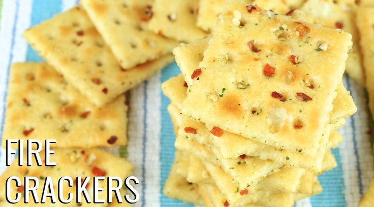 "A delicious twist on a classic, this recipe for ""Fire Crackers"" is a crowd pleaser. Saltine crackers seasoned with ranch & other spices to give them a kick."