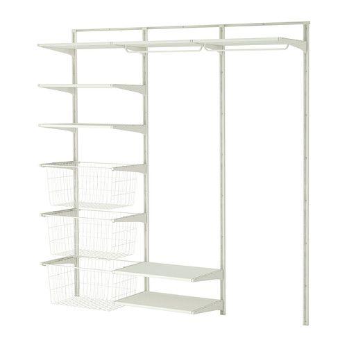 IKEA ALGOT series shelves for walk in closet