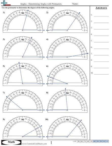 Angles Excellent Source for Identifying and Measuring Angles