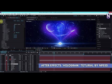 After Effects 'HOLOGRAM' Toturial by NPS3D - YouTube