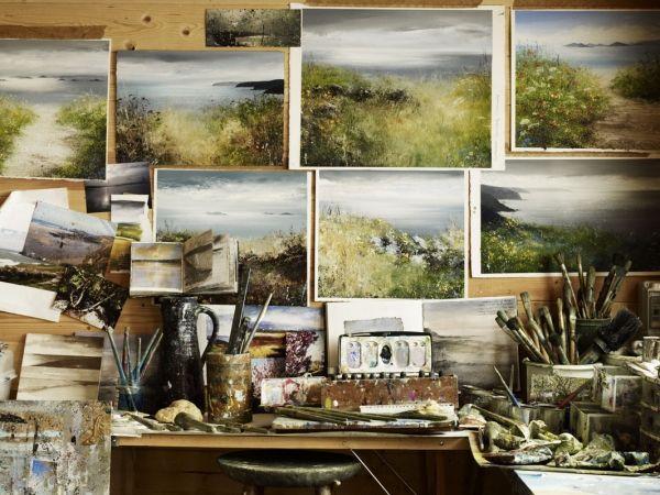 Cornwall Artist Amanda Hoskins ~ Andrew Montgomery photo