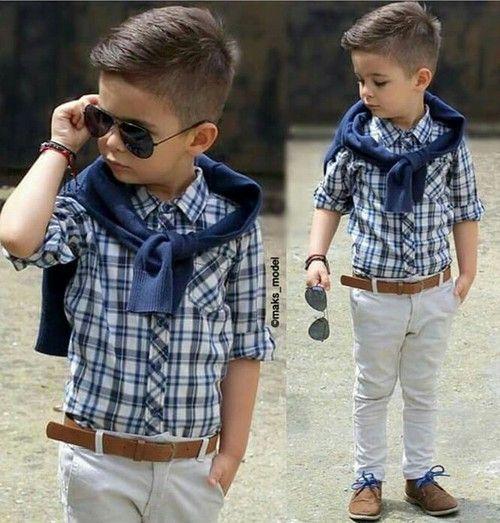 تسريحات شعر اطفال موديلات واستايلات الشعر للأطفال بالصور Toddler Boy Outfits Boy Outfits Kids Outfits