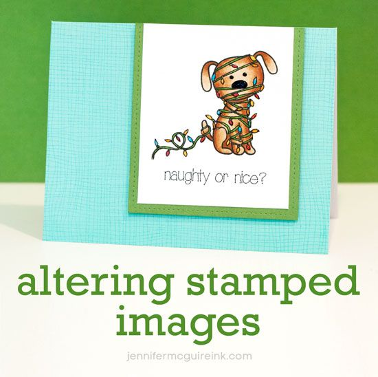 Altering Stamped Images Video by Jennifer McGuire Ink using Simon Says Stamp Exclusives.  Stamptember 2014