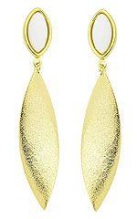 Brinco folheado a ouro com chapa com acabamento fosco-Clique para maiores detalhes  Conheça outros modelos acessando : www.joiasfolheadasdiretodafabrica.tk