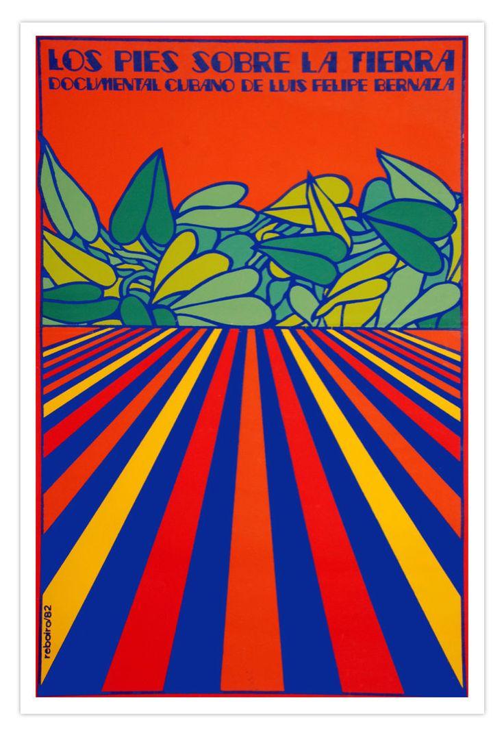 Cuban movie Poster for Cuba film.PIE sobre Tierra.Feet on Ground.Psichedelic art | eBay