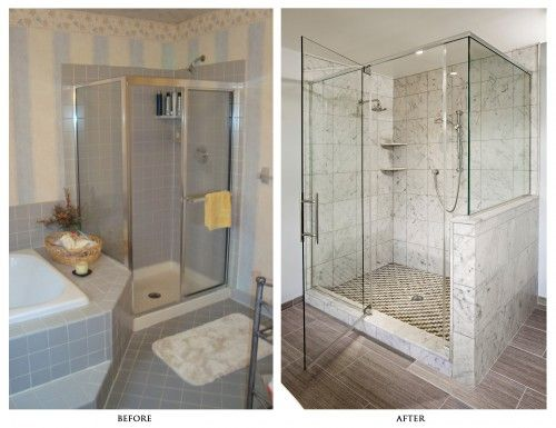 Bathroom remodel ideas before and after - bigger shower room