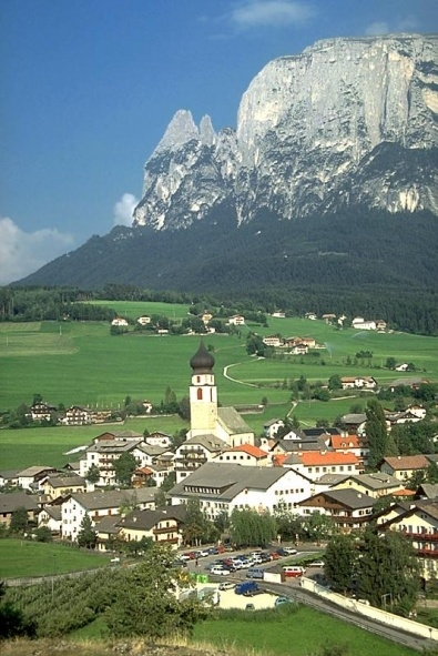 Fie allo Sciliar (or Foels am Schlern) in the Italian Dolomites.