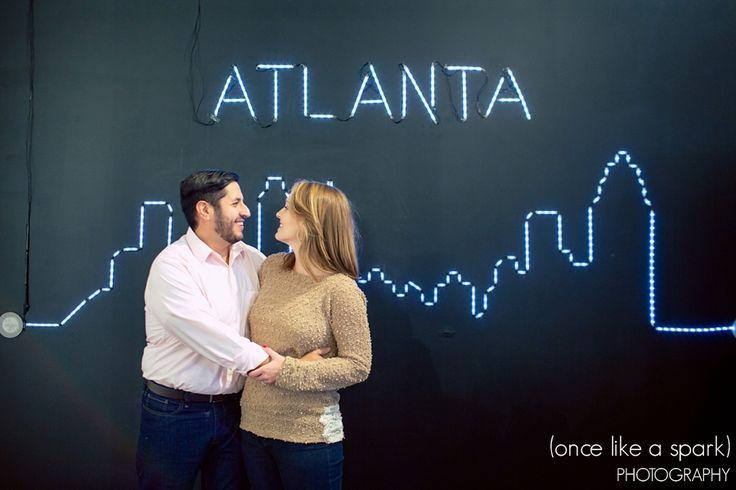 Elise + Carlos. Engaged. Atlanta, GA. Ponce City Market. (Once Like a Spark) Photography. #engagementphotographer