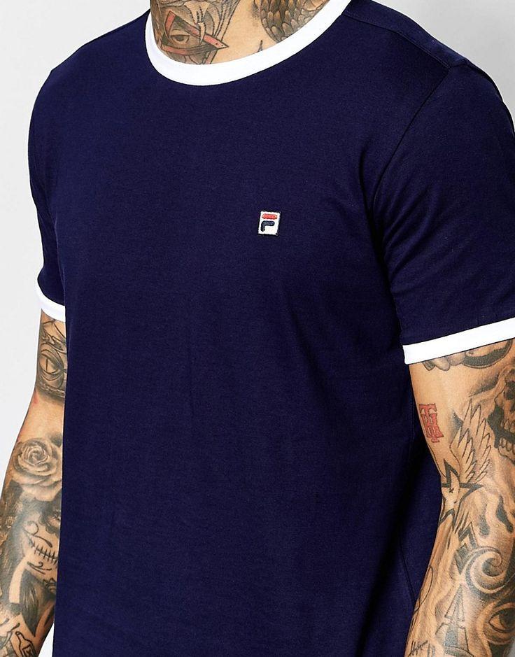 Image 3 - Fila Vintage - T-shirt avec petit logo F carré