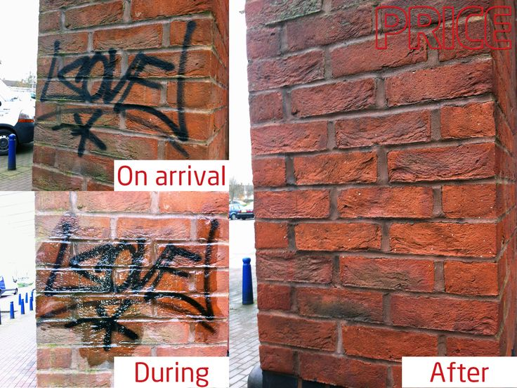 Graffiti removal from brick work