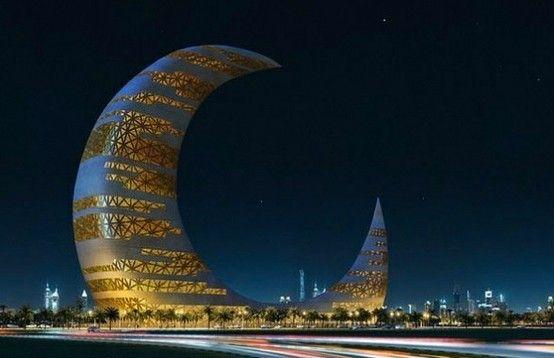 """Skyscraper """"Crescent Moon Tower"""" in Dubai #architecture"""