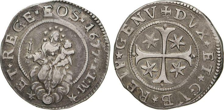 NumisBids: Numismatica Varesi s.a.s. Auction 65, Lot 391 : GENOVA - DOGI BIENNALI, III fase (1637-1797) Mezzo Scudo 1677,...