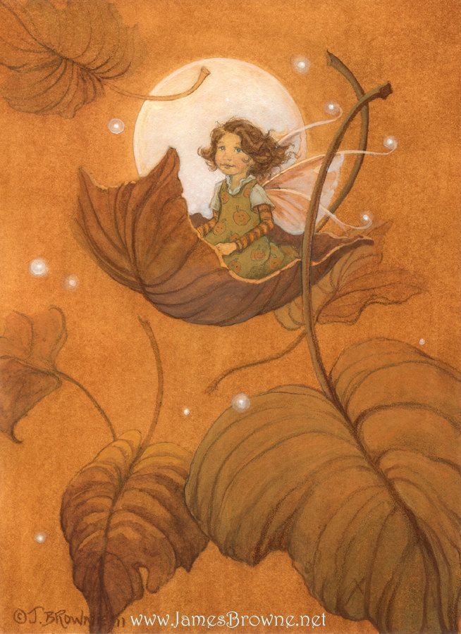 Autumn Fairy by James Browne: