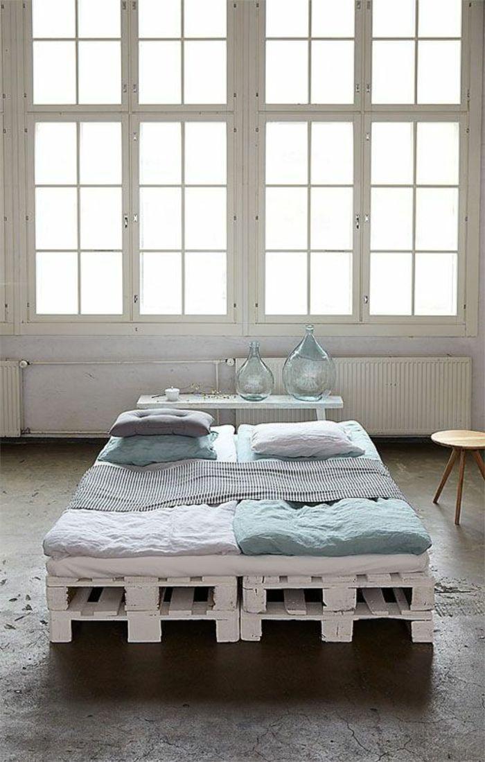 Interieur Ideen Mit Europaletten Bett Schlafzimmer Ideen