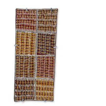 Rerrkirrwanga Mununggurr Gurtha 1 2014 Earth pigment on bark 15 1/2 X 7 inches