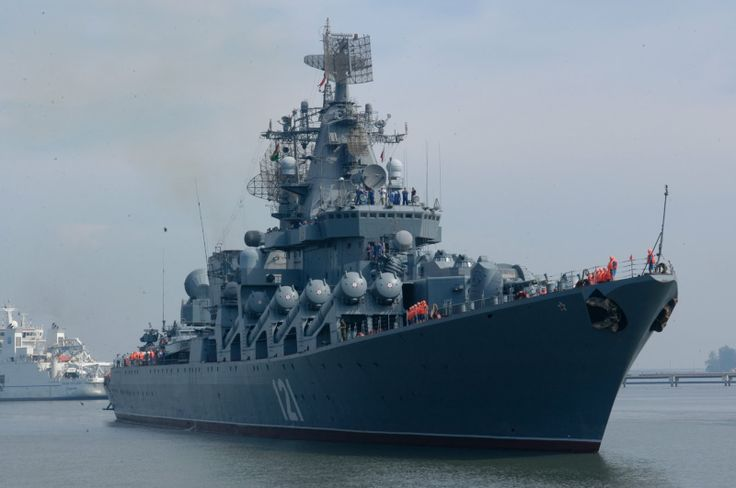 """100%™ Russian Cruiser """"Moskva"""" (121). Project 1164. Class """"Atlant"""" of Russian guided missile cruisers."""