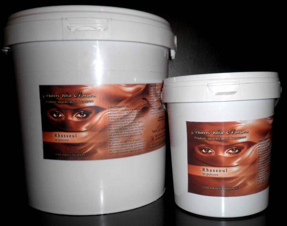 RASSOUL o GHASSOUL in polvere o placche da1kg e 5 kg (Linea Professionale) prodotti hammam, Il Rhassoul o Ghasso