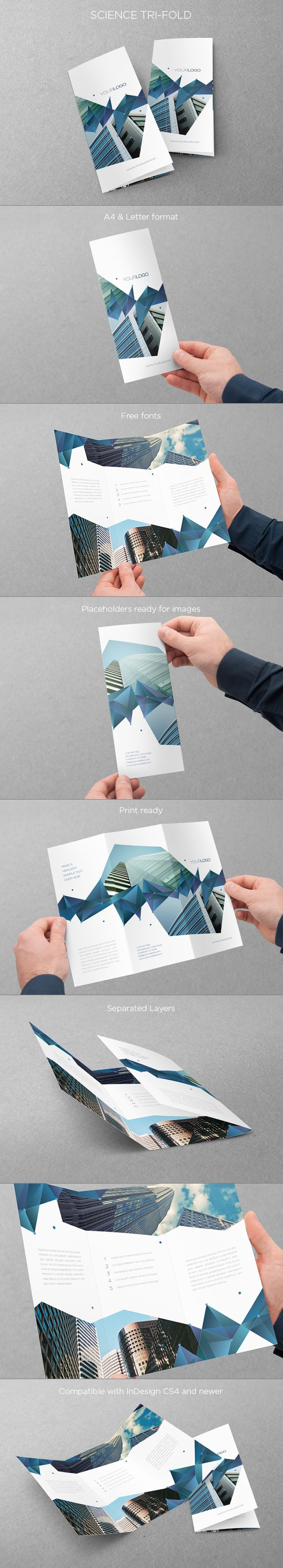 Science Trifold. Download here: http://graphicriver.net/item/science-trifold/5696046 #design #trifold #brochure