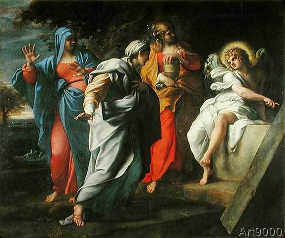 Annibale Carracci - The Holy Women at Christ's Tomb, c.1597-8