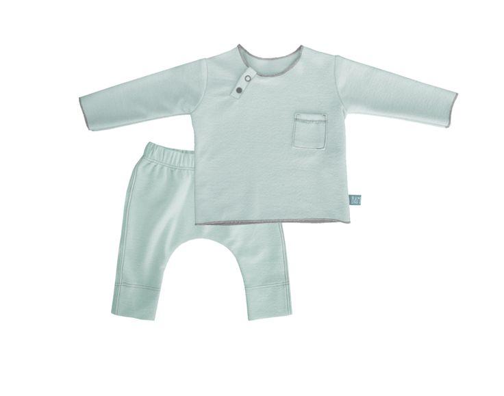 Nome *  Completo neonato felpa e pantaloni in bambù organico verde menta