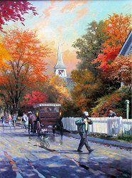 Autumn on Mackinac Island, Michigan by Thomas Kinkade