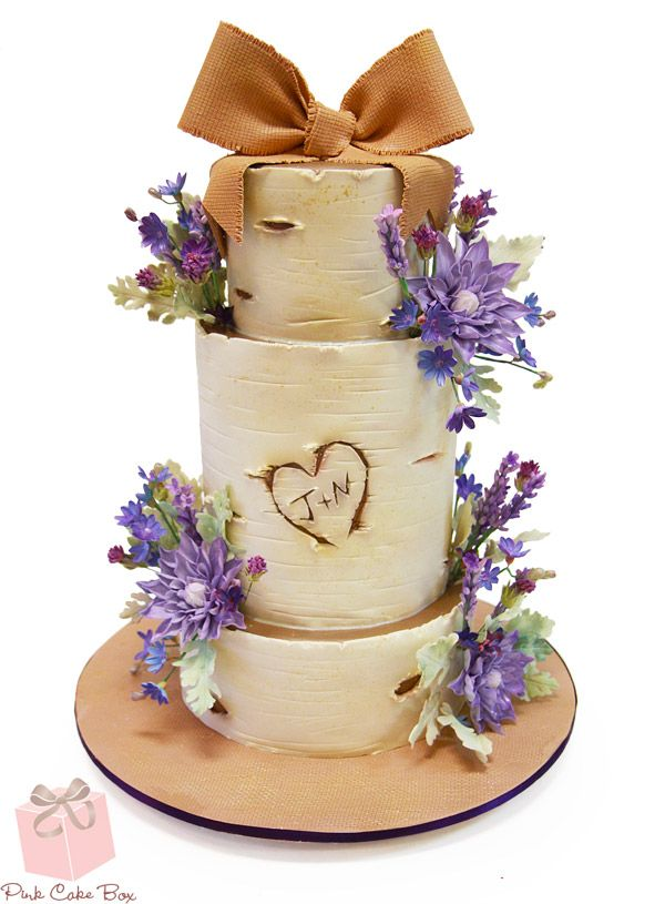 Birch Tree Wedding Cake Fall Wedding