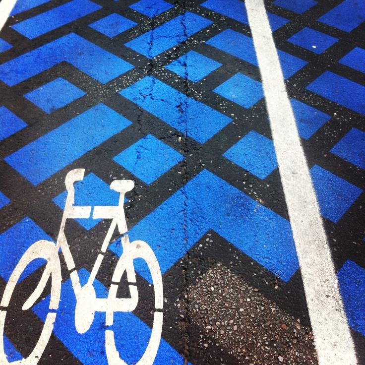 Bike lane in Adelaide.