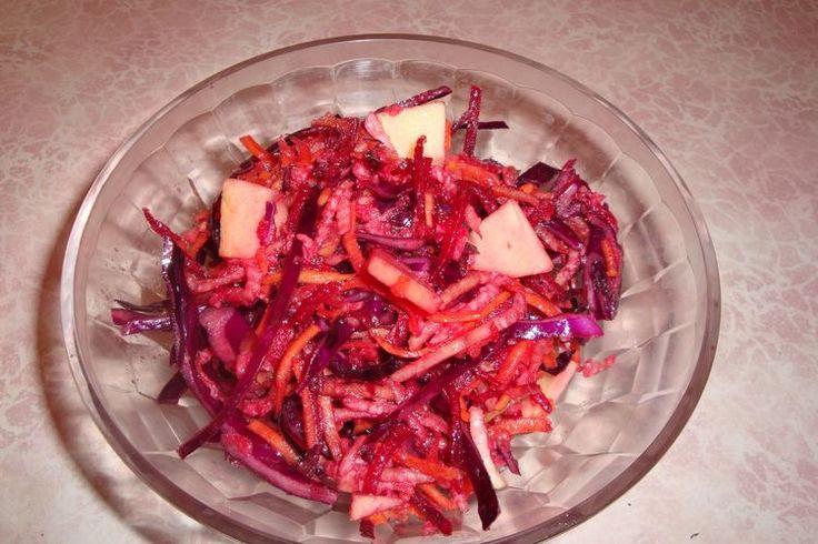 Салат из краснокочанной капусты с изысканной заправкой