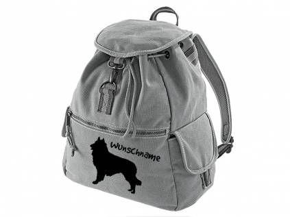 Canvas Rucksack HunderassenCanvas Rucksack Hunderasse: Belgischer Schäferhund - Tervueren