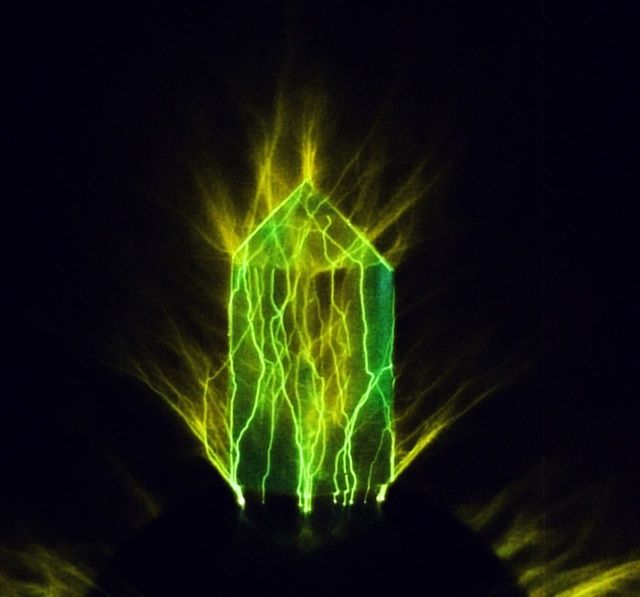 kirlian photography of a crystal