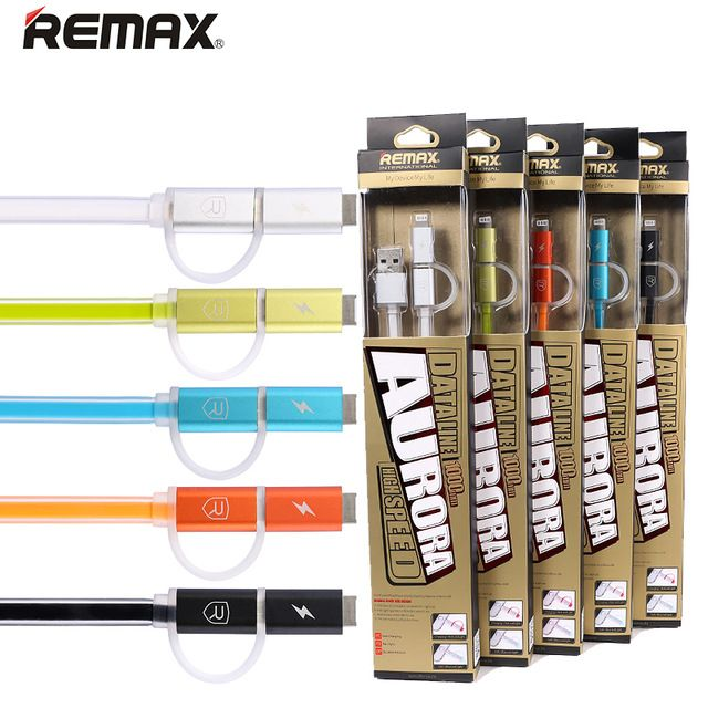 Оригинал Remax быстрая зарядка USB микро-кабель для Samsung HTC LG SONY Apple , iPhone iPod iPad освещение плоским провод данных
