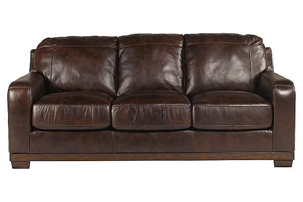 The Crestwood Sofa from Ashley Furniture HomeStore (AFHS.com). The all leather upholstery of Crestwood leather offers the luxurious look and feel of top quality leather with the benefit of protection.