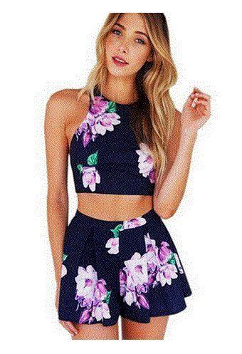 Conjunto top mas pantalón con estampado floral. Diseño super bonito, perfecto para el verano.