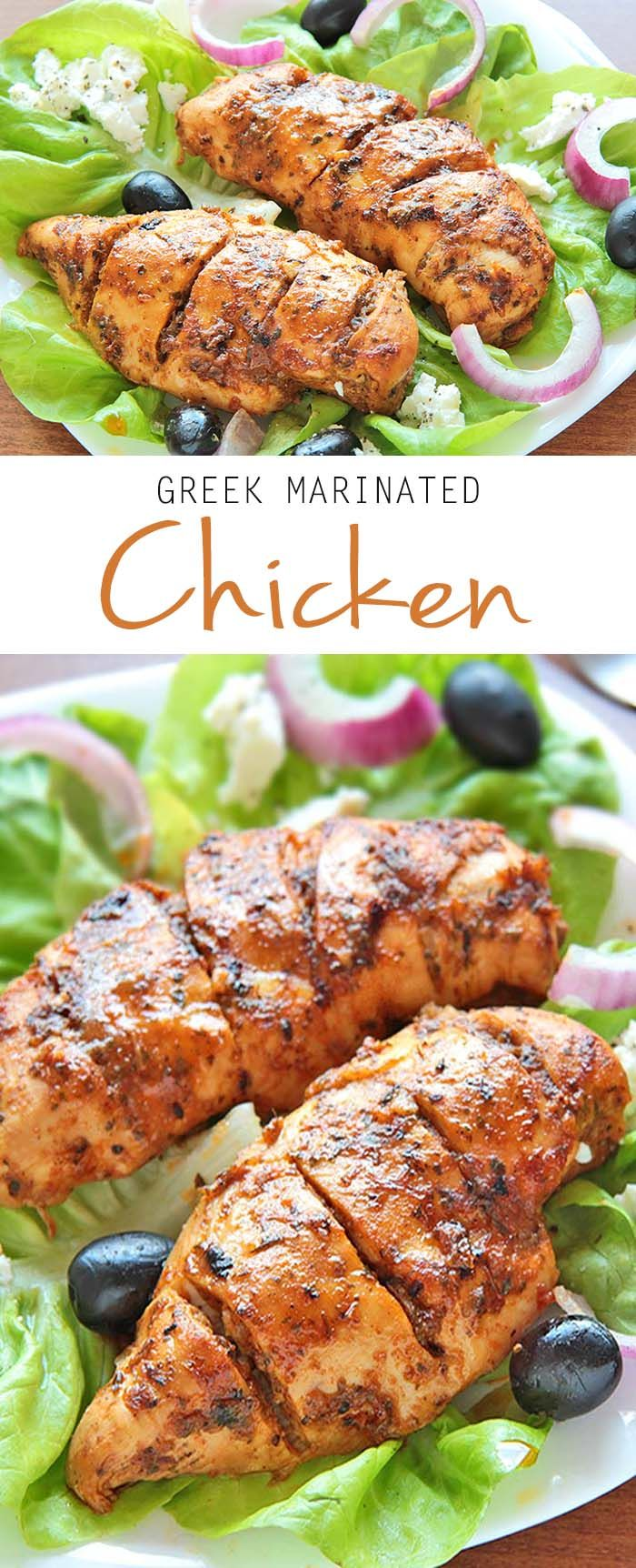 Easy Greek Marinated Chicken | Recipe | See more best ...