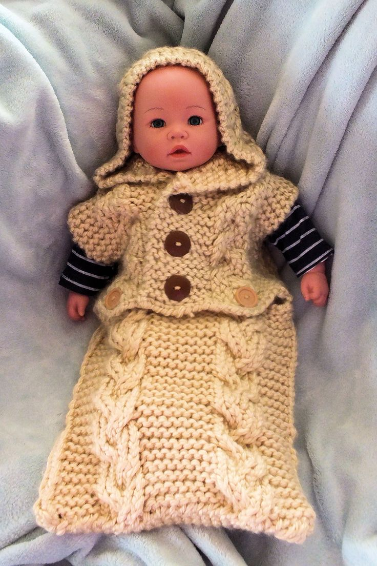 How to Loom Knit Braided Baby Cocoon
