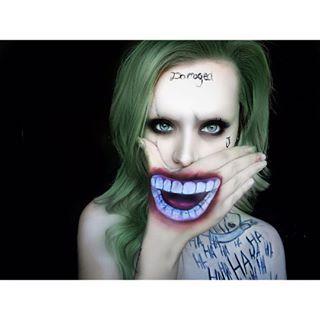💚Female Joker💚 Part 3 of my suicide squad series 💚💚💚💚💚💚💚💚💚💚💚💚💚💚💚💚 #suicidesquad #joker #sfx #bodyart #mua #makeup #art #makeupartist
