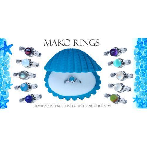 Mako Mermaids Ring in Sterling Silver