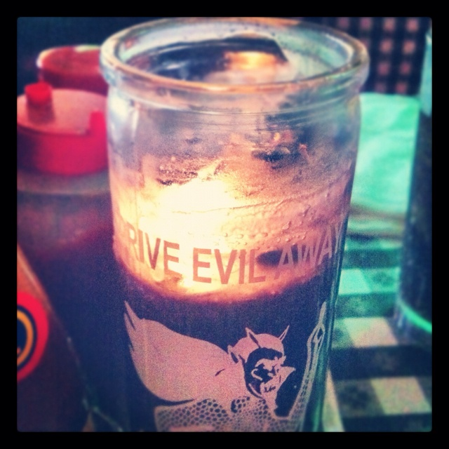 Drive Evil Away candle, Ajax Diner, Oxford, Miss.Ajax Diners, Drive Evil