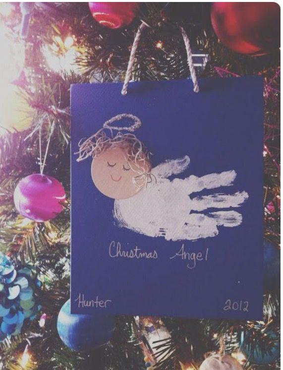 Angel handprint